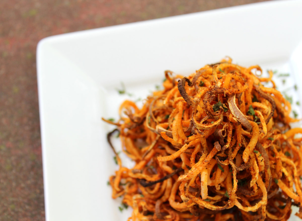 Game Night Star recipe: Crispy Sweet potato Noodles